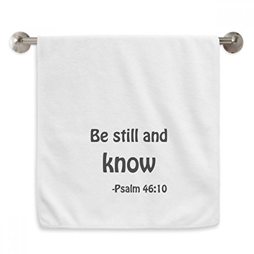 DIYthinker Be Still And Know Christian Quotes Circlet White Towels Soft Towel Washcloth 13x29 Inch by DIYthinker