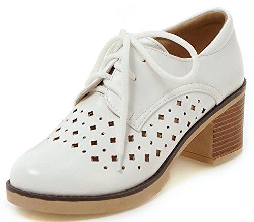 Mode Bout Easemax à Richelieus Rond Lacets Blanc Femme ZO5pg5xqPw