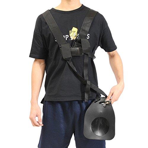 gochange-black-comfort-strap-double-shoulder-for-brushcutters-trimmers-strimmer-harness-garden-brush