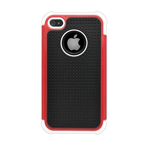 Katinkas KATIP41079 Dual Case für Apple iPhone 4/4S Extra-Tough-Serie rot