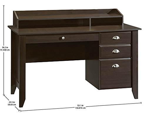 042666102056 - Sauder Shoal Creek Desk, Jamocha Wood carousel main 2