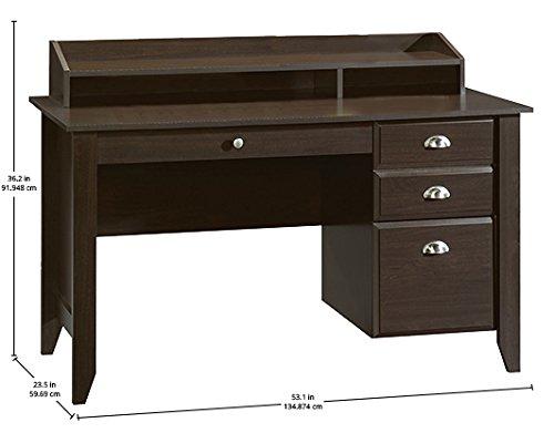 042666102056 - Sauder Shoal Creek Desk, Jamocha Wood carousel main 11