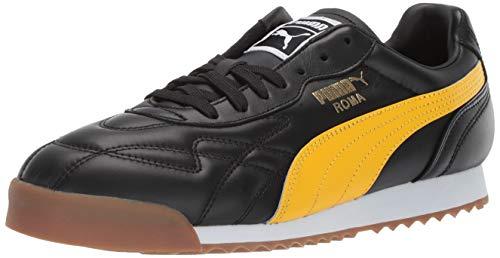 (PUMA Men's Roma Anniversario Sneaker, Black-Spectra Yellow, 9.5 M US)