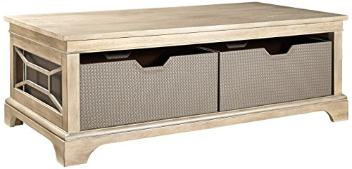 Furniture At Home Food & Wine Harvest Collection Coffee Table, Natural Wash