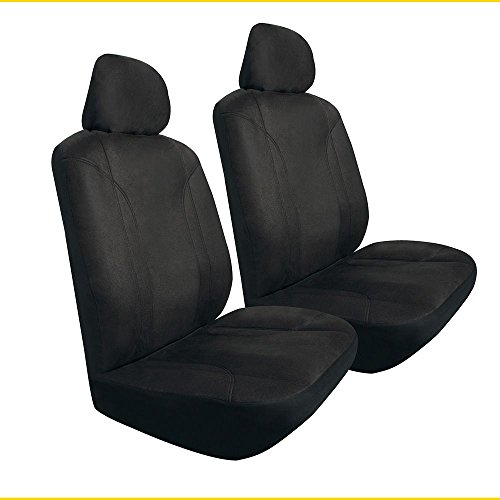 - Pilot Automotive Universal Fit Seat Cover - Microsuede (Black), 3 Piece