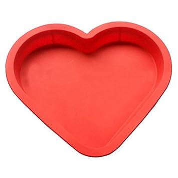 Cupcinu Molde de silicona con forma de corazón para repostería Molde de pizza Molde de pan Molde de bola de arroz Molde creativo del corazón: Amazon.es: ...