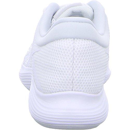 Sneakers Blanc Femme Nike 4 Eu Platinum white 001 Revolution pure Basses white Wmns 44Rqpng
