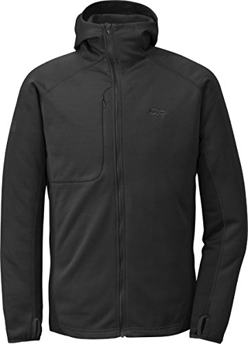 Outdoor Research Men's Radiant Hybrid Hoody, Black, X-Large