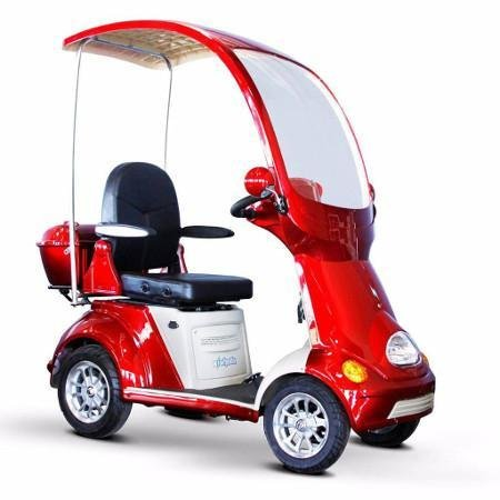 Mobility Scooter with Canopy Color: Red
