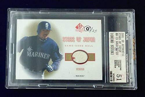 多様な Ichiro(イチロー)MLB 2001 UD of Sp Authentic Stars of Japan Japan Gold 2001 (限定25シリアル) Game Used Ball B07P5JTHC4, 上質の北欧雑貨/ギフト すりーる:963b4702 --- arianechie.dominiotemporario.com