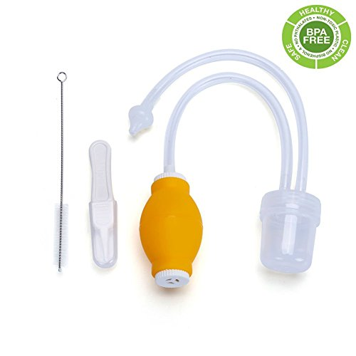 PREMIUM BABY NASAL ASPIRATOR - Food Grade Snot Sucker-Anti-Backflow BPA-Free - Safety, Gentle for Infant Nasal Congestion, Removing Mucus Gently with Super Soft Silicone Tip- Baby Healthcare Kit by T-July