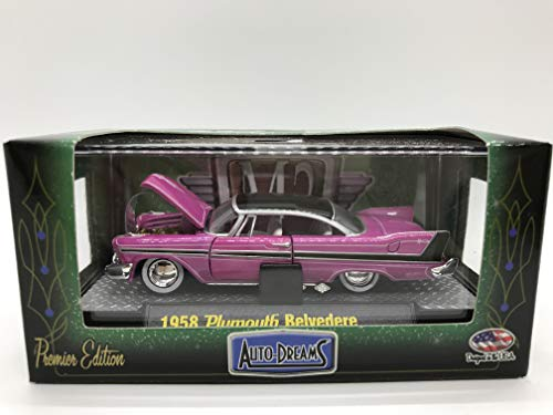 M2 Machines Auto-Dreams 1958 Plymouth Belverdere Crazy Painter Tom Kelly Edition 12-05 Purple/Pink Details Like NO Other! Over 42 Parts