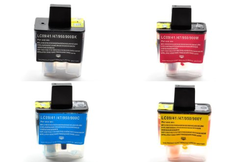 4 Packs compatible ink cartridges LC 41 for BROTHER Printer MFC-210C MFC-215C Brother Mfc 420cn Printer