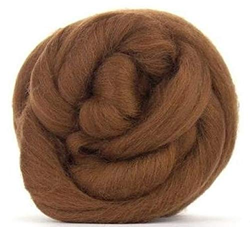 4 oz Paradise Fibers 64 Count Dyed Chocolate (Brown) Merino Top Spinning Fiber Luxuriously Soft Wool Top Roving for Spinning with Spindle or Wheel, Felting, Blending and Weaving