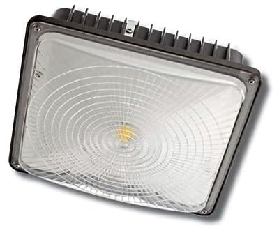 LED Canopy High Bay Light Parking Garage Gas Station 4050 Lumens 45W 5000K UL/DLC Listed 50,000+ Hour Life