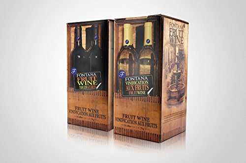 Fontana Fruit Wine Making Kit Premium (28 Day Kit) (Peach Chardonnay), 15.4lbs Wine Kits Free Shipping