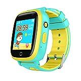 Kids Waterproof Smartwatches Phone, Children Tracker Phone with WiFi GPS LBS Positioning Locator