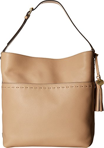 Cole Haan Womens Ivy Pic Stitch Square Bucket Hobo Nude One Size by Cole Haan