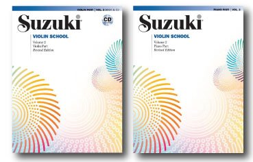 Suzuki Violin School, Volume 2, Violin Part with CD Accompaniment and Piano Accompaniment Book - Two