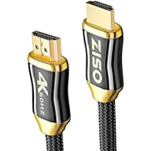 4K High Speed HDMI 2.0 Ready (4K 60Hz 4:4:4) HDR HDCP 2.2 - Ethernet / Audio Return Channel ,Gold Plated Connectors Ultra HD blu-ray Apple TV 4K Xbox x PS4 pro (28 AWG 18Gbps) (10 feet)