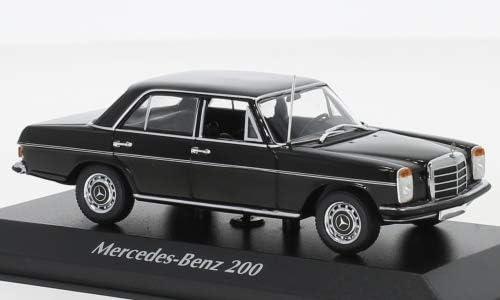 Modellauto schwarz 1968 Fertigmodell Maxichamps 1:43 Mercedes 200