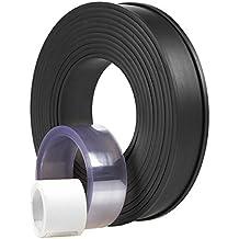 Magnetic Warehouse Label Holder - Flexible Magnet Data Card Plastic Strip Kit for Stock Labeling, 125.9-Inch Long Roll