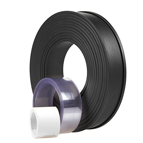 Magnetic Warehouse Label Holder - Flexible Magnet Data Card Plastic Strip Kit for Stock Labeling, 125.9-Inch Long Roll
