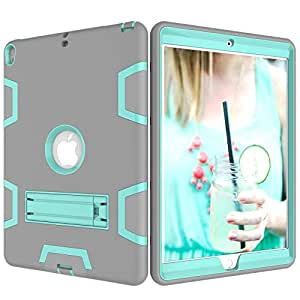 Hybrid Shockproof Stand Tablet Rubber Case Cover For iPad Pro 10.5 Inch 2017 Grey and Teal
