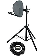 Digitalis Direct Satellite Tripod, Satfinder and Sky Dish Full DIY Kit for Caravan