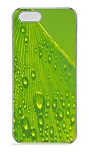 Leaves 8 Cover Case Skin for iPhone 5 5S Hard PC Transparent