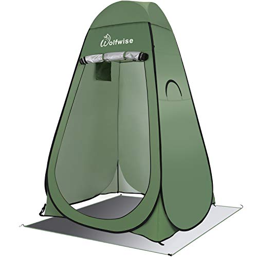 WolfWise Easy Pop Up Privacy Shower Tent Portable Outdoor Sun Shelter Camp Toilet Changing Dressing Room