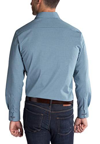 Shirt blau Checked Poplin Gruen Modern Fit Eterna Long Sleeve EwnxqvzPB