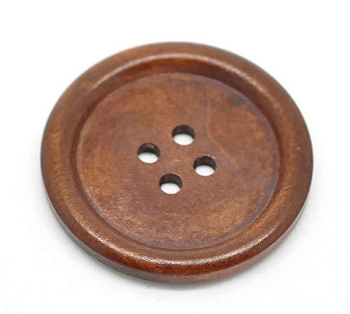Healifty Bottoni in legno per Cucito bottoni legno naturale 30 pezzi (Marrone)