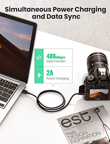 UGREEN Mini USB Cable USB 2.0 Type A to Mini B Cable Data Charging Cord for GoPro Hero 3+, Hero HD, PS3 Controller, Cell Phones, MP3 Players, Dash Cam, Digital Camera, SatNav, GPS Receiver, PDAs 3ft