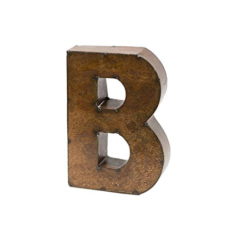 Rustic Arrow Letter B for Decor, 9-Inch, Brown