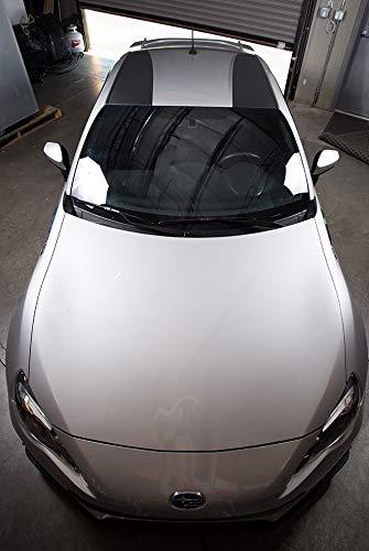 Factory Crafts Roof Double Stripe Graphics Kit 3M Vinyl Decal Wrap Compatible with Subaru BRZ 2013-2014 - Carbon Fiber Black