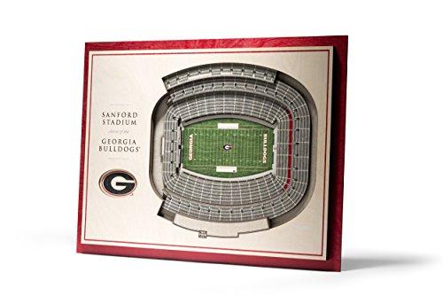 NCAA Georgia Bulldogs 5-Layer Stadiumviews 3D Wall Art