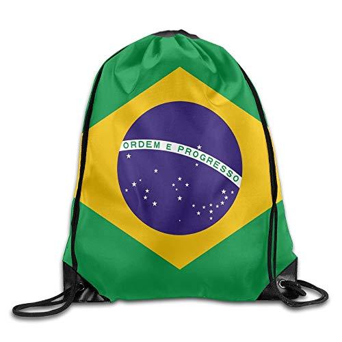 Uangdglu Flag Of Brazil Cool Gym Drawstring Bags Travel Backpack Tote School Rucksack - Brazil Dress Womens