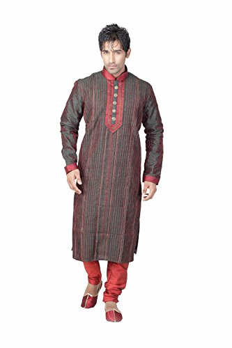 Da Facioun Brown Kurtas Ethnic Wear Mens Clothing by Da Facioun