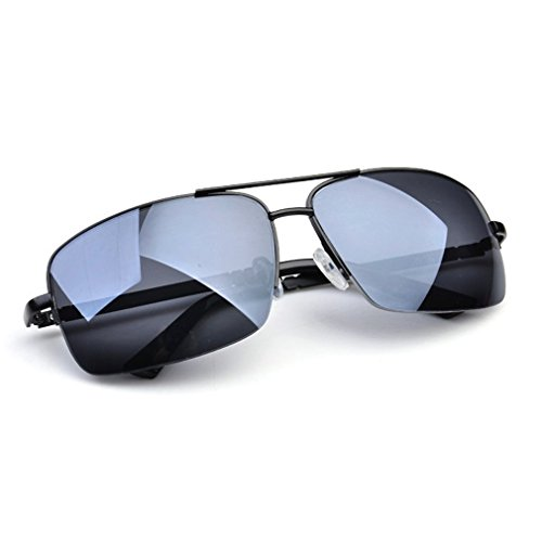 LOMOL Mens Uv Protection Rectangular Drive Outdoor Sport Beach - Between The And Uv Difference Protection What Is Polarized