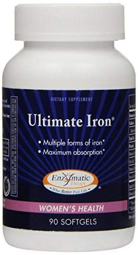 Enzymatic Therapy - Ultimate Iron, 90 Softgels (Pack of 3) (Iron Enzymatic Therapy Ultimate)