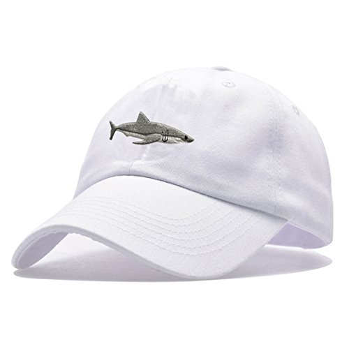 1daecaed5d6 Himozoo Women Men Baseball Cap 100% Cotton Washed Shark Embroidery Dad Hat  - Buy Online in Oman.