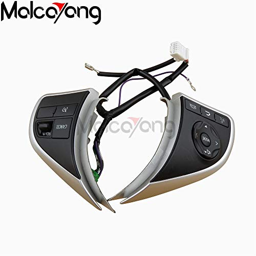 Fincos Audio Radio Control Cruise Control Switch Steering Wheel Switch Button for Mitsubishi Outlander 2013 2014 2015 Mirage 2014 2015 ()