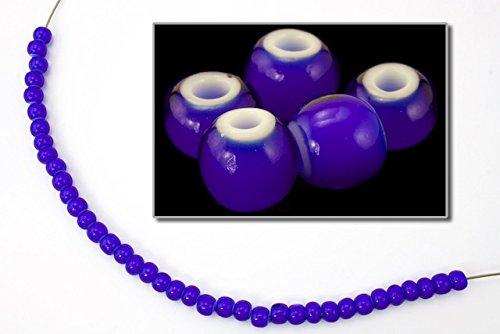 6/0 White Heart Cobalt Seed Bead (40 Gram) #CSB234 -