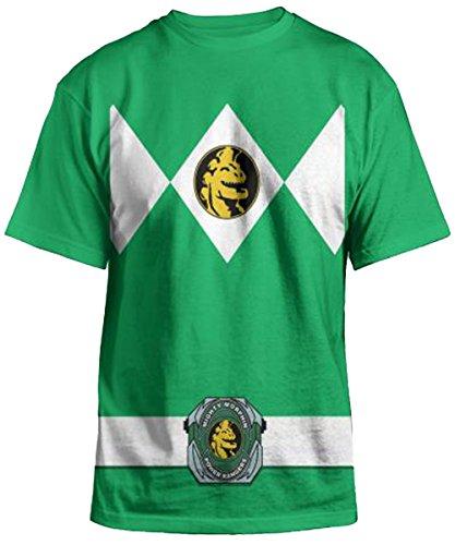 Green Ranger Mighty Morphin Costume (Power Rangers - Green Ranger Uniform Costume T-Shirt - Small)