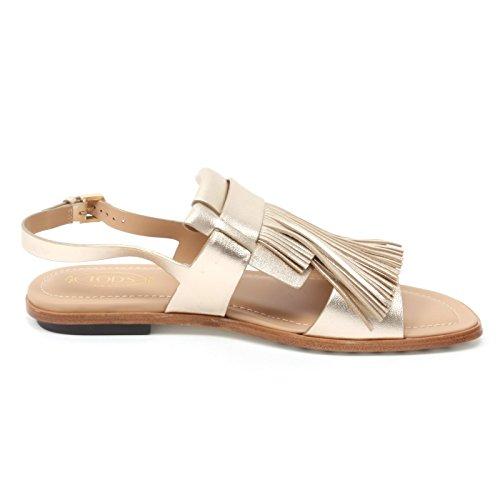 Scarpa Donna Sandalo B4408 Shoe Maxi Doré Frangia Sandal oro Woman Tod's t8xqwq