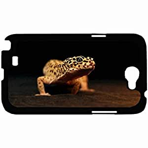 New Style Customized Back Cover Case For Samsung Galaxy Note 2 Hardshell Case, Back Cover Design Leopard Gecko Personalized Unique Case For Samsung Note 2