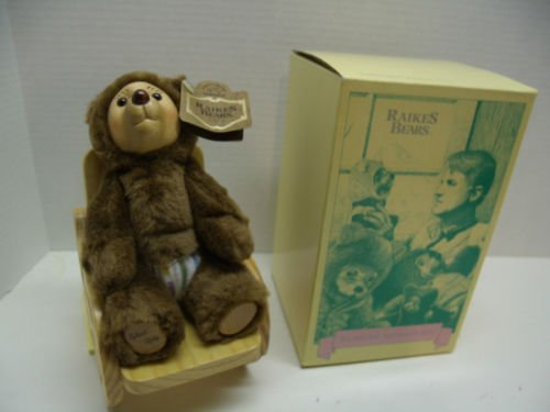 "ROBERT RAIKES ROBBIE W/ROCKING CHAIR NURSERY MINIATURS #38522 NIB 1990 7""TALL"