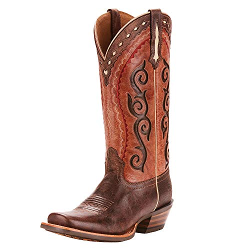 Womens Fire Boots - Ariat Women's COWTOWN CUTTER Boot, crossfire cocoa/posse pink, 9 B US
