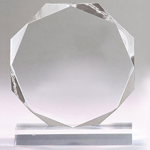 Awards and Gifts R Us Customizable 6 Inch Clear Octagon Acrylic Award, Includes Personalization